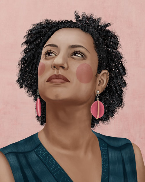 Portrait illustration of Marielle Franco