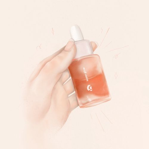 Glossier Super Glow Illustration