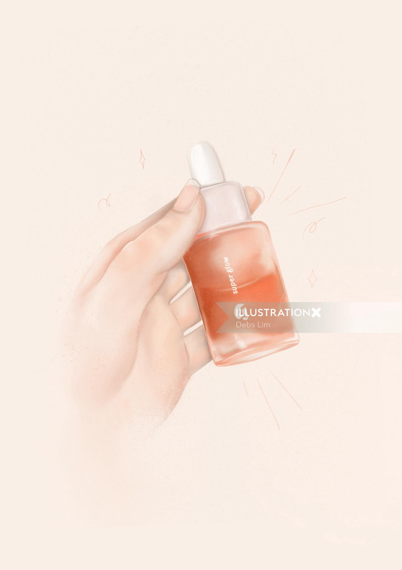 Glossier Super Glow Illustration