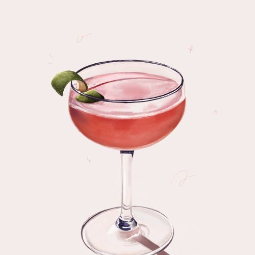 Illustration of Strawberry Cocktail