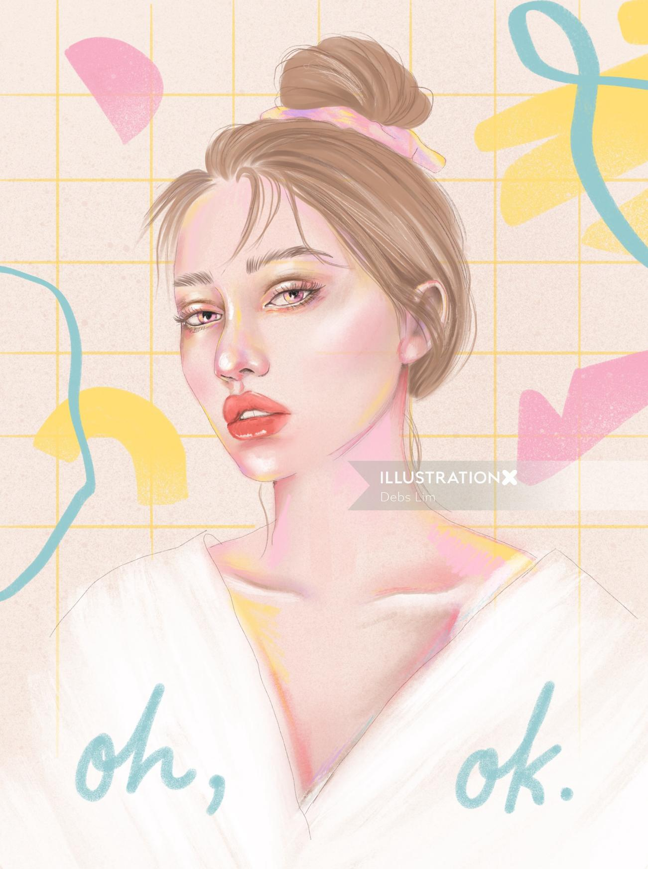 Portrait of makeup woman