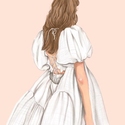 Fashion illustration from Copenhagen Fashion Week
