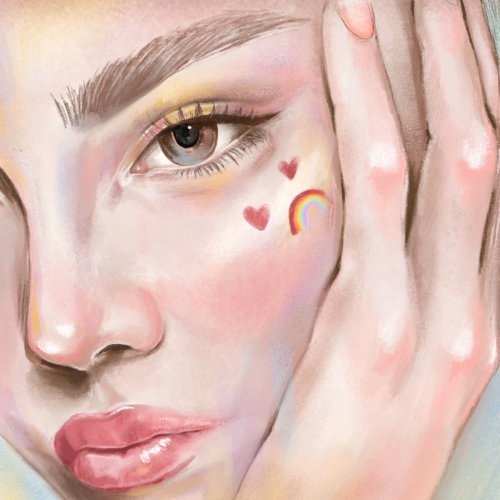 Close up female portrait by Debs Lim
