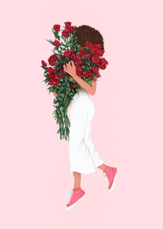 Roses inspired by Mansur Gavriel's Fall Lookbook