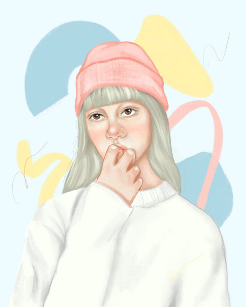 winter wear girl illustration