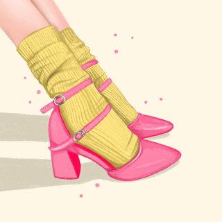 Statement shoe pop illustration
