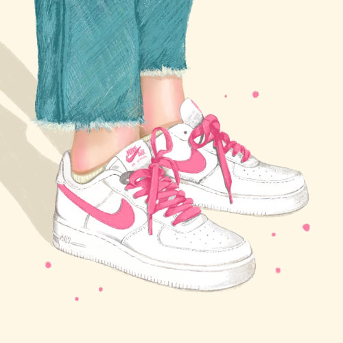 Nike Sneaker Cartoon Illustration