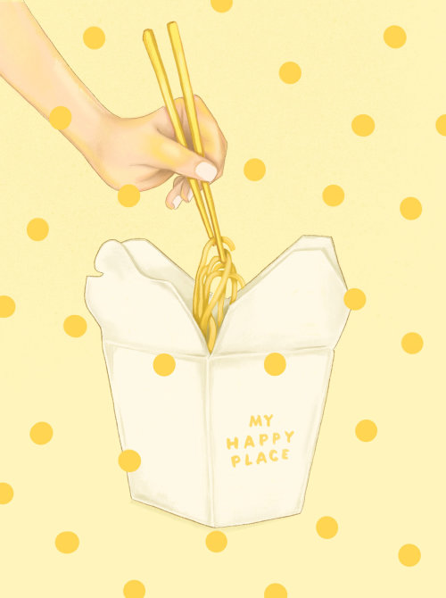 Take away noodles from my happy place