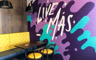 wall mural in coffe shop