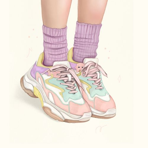 Sketch of Paster sneakers