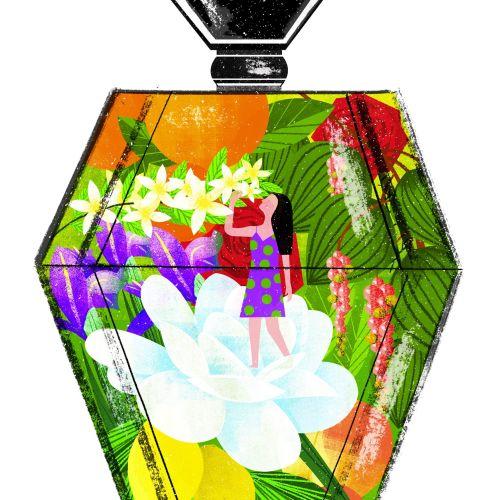 Perfume Bottle Illustration For Vogue China Magazine
