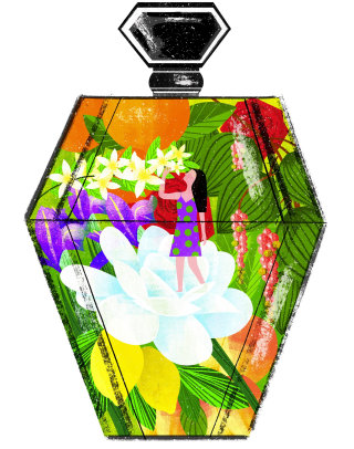 Perfume Bottle Illustration For Vogue China Magazine