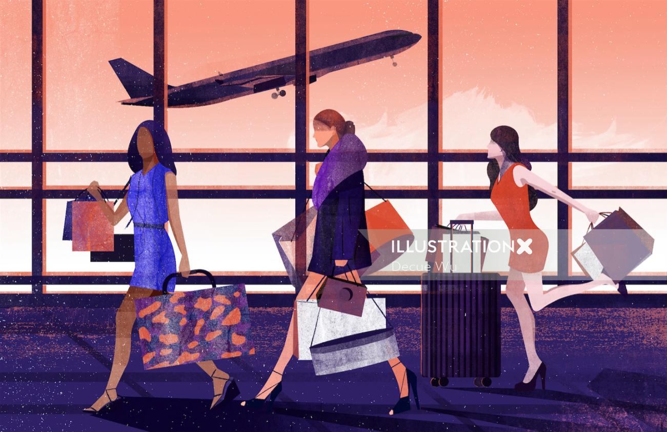 Fantastic Illustration For Vogue China Magazine