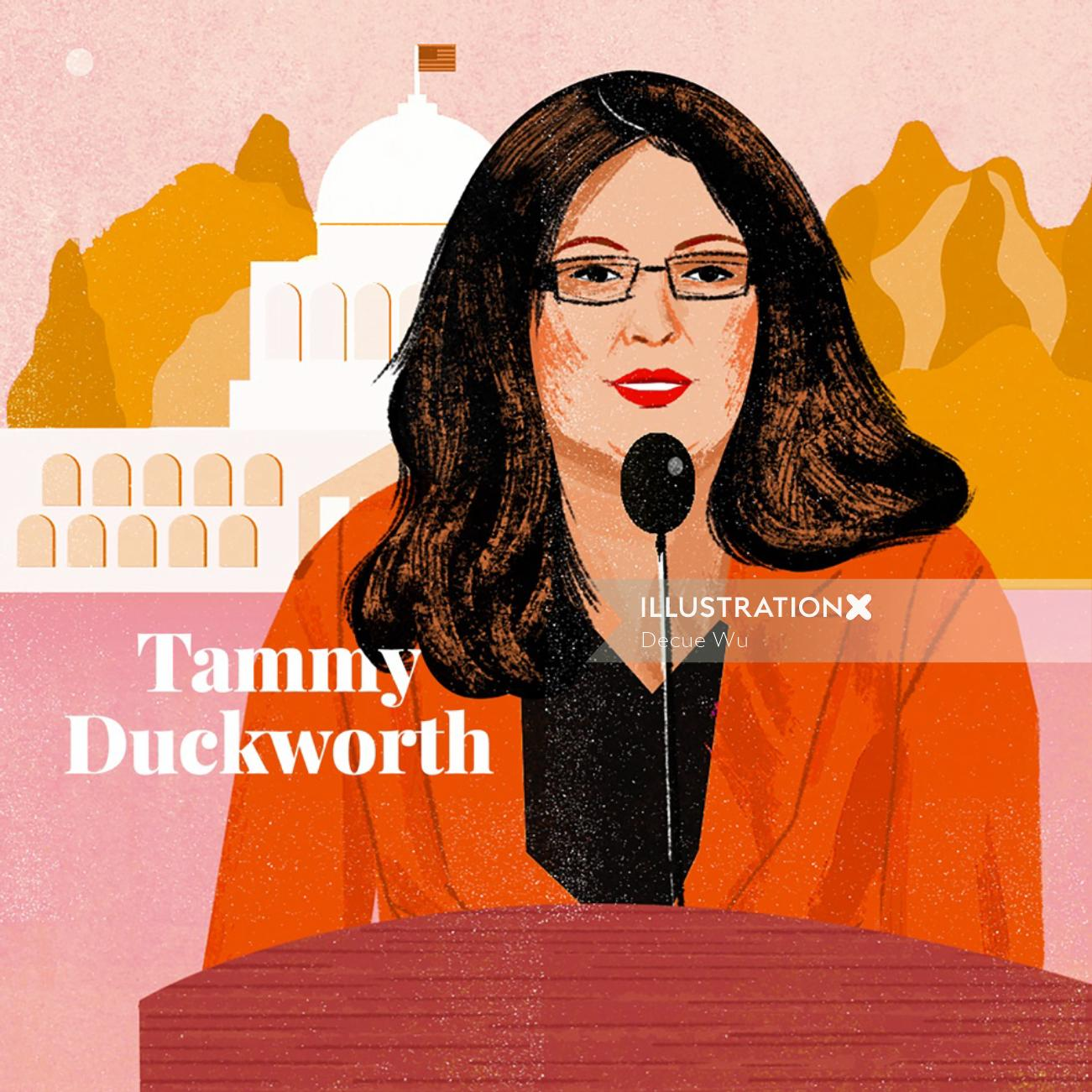 Portrait of Tammy Duckworth