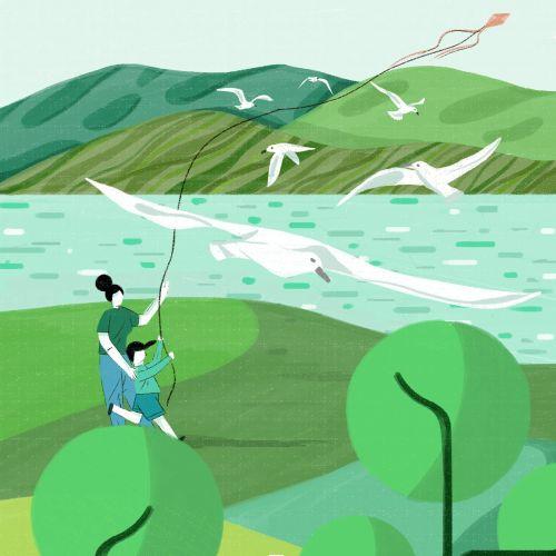 Advertorial Illustration For China's Hona Organic Sauce