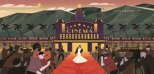 Red Carpet illustration for Soho House's