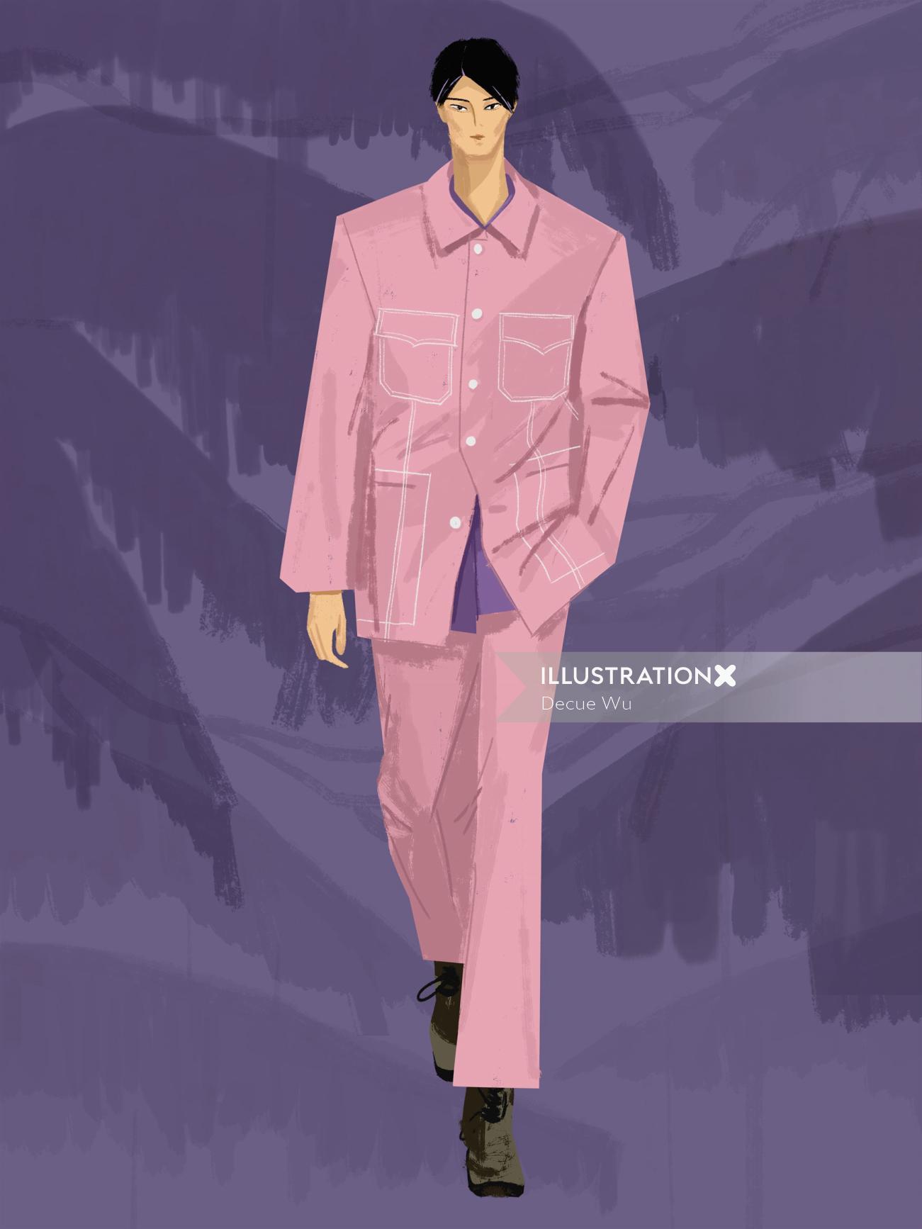 Fashion illustration of modern weekly style Magazine