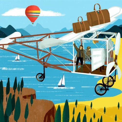 Voyagez magazine editorial illustration