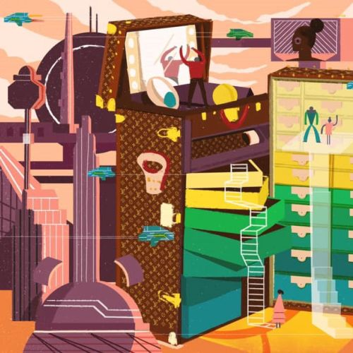 Graphic design of LV's travel suitcases for superelle china