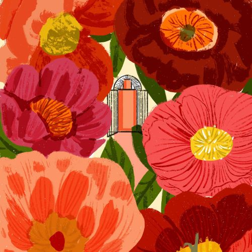 Perfume and scent digital illustration