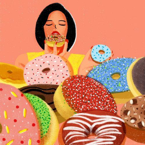 Donuts digital illustration for Vogue China