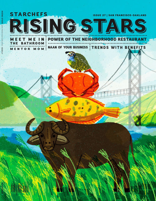 Cover design of rising stars