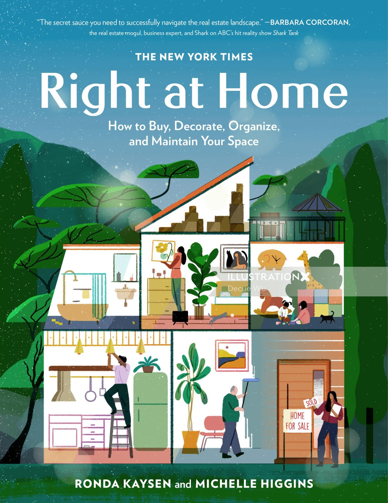 Editorial illustration of right at home