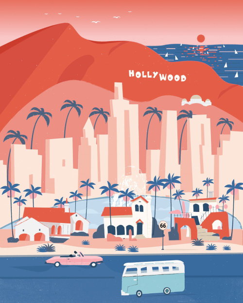 Illustration of City of Angels for Chinese scarf fashion brand Lost Pattern