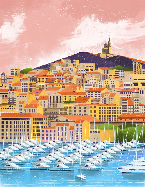 An illustration of Marseille city