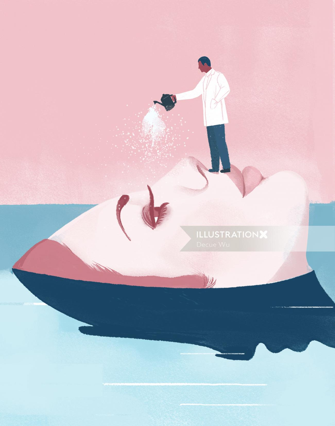 Skin Watery Treat - An Editorial illustration by Decue Wu