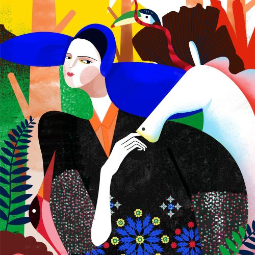 Delpozo fashion illustration by Decue Wu