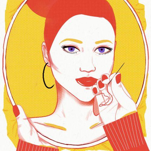 Threading Lifting - Fashion illustration by Decue Wu