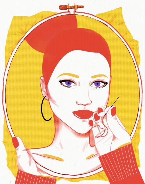 Threading Lifting - Fashion illustration by Decue Wu