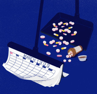 Medicine on time illustration by Decue Wu