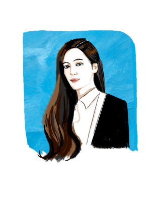 portrait of a model - An illustration by Decue Wu