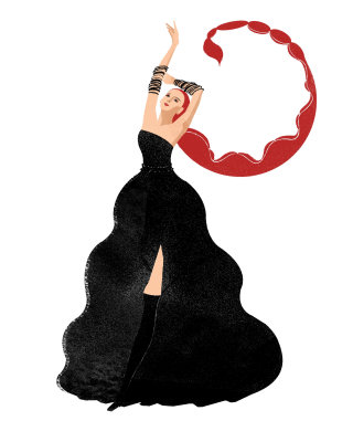 Fashion illustration for Vogue China Mini by Decue Wu