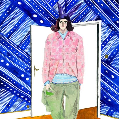 Men fashion illustrations for Milk X Magazine by Decue Wu