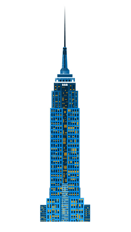 An Illustration of Manhattan skyline tower