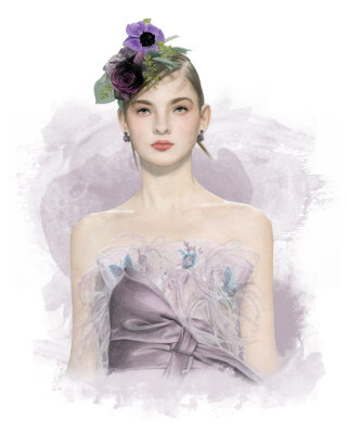 Stylish fashion lady