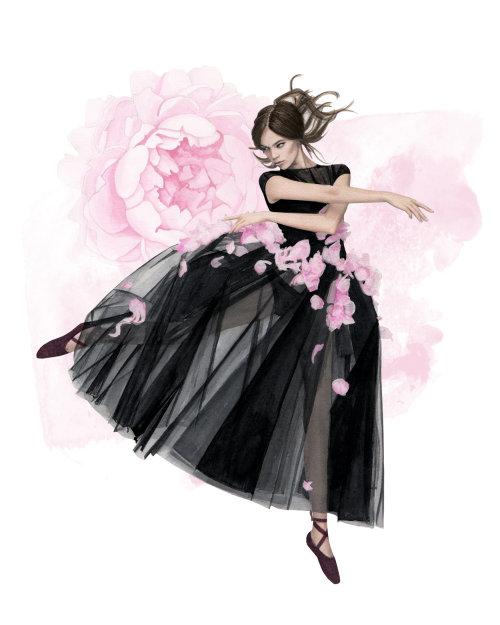 Arte-final de uma linda jovem bailarina