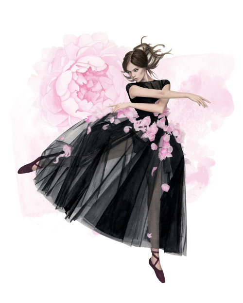 Artwork of a beautiful young ballerina