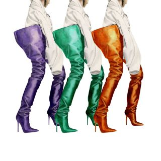 Fashion illustration of Manolo Blahnik X Vetements Boots