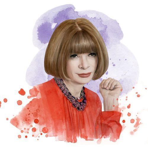 Water colour portrait of woman