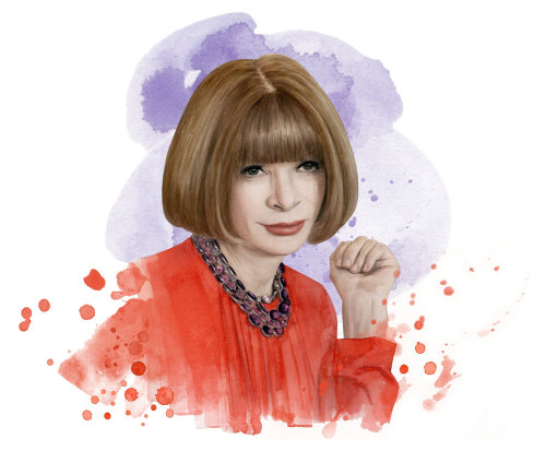 Retrato de cor de água da mulher