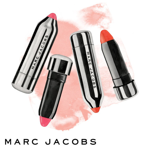 Illustration of Marc Jacobs lipstick by Dena Cooper
