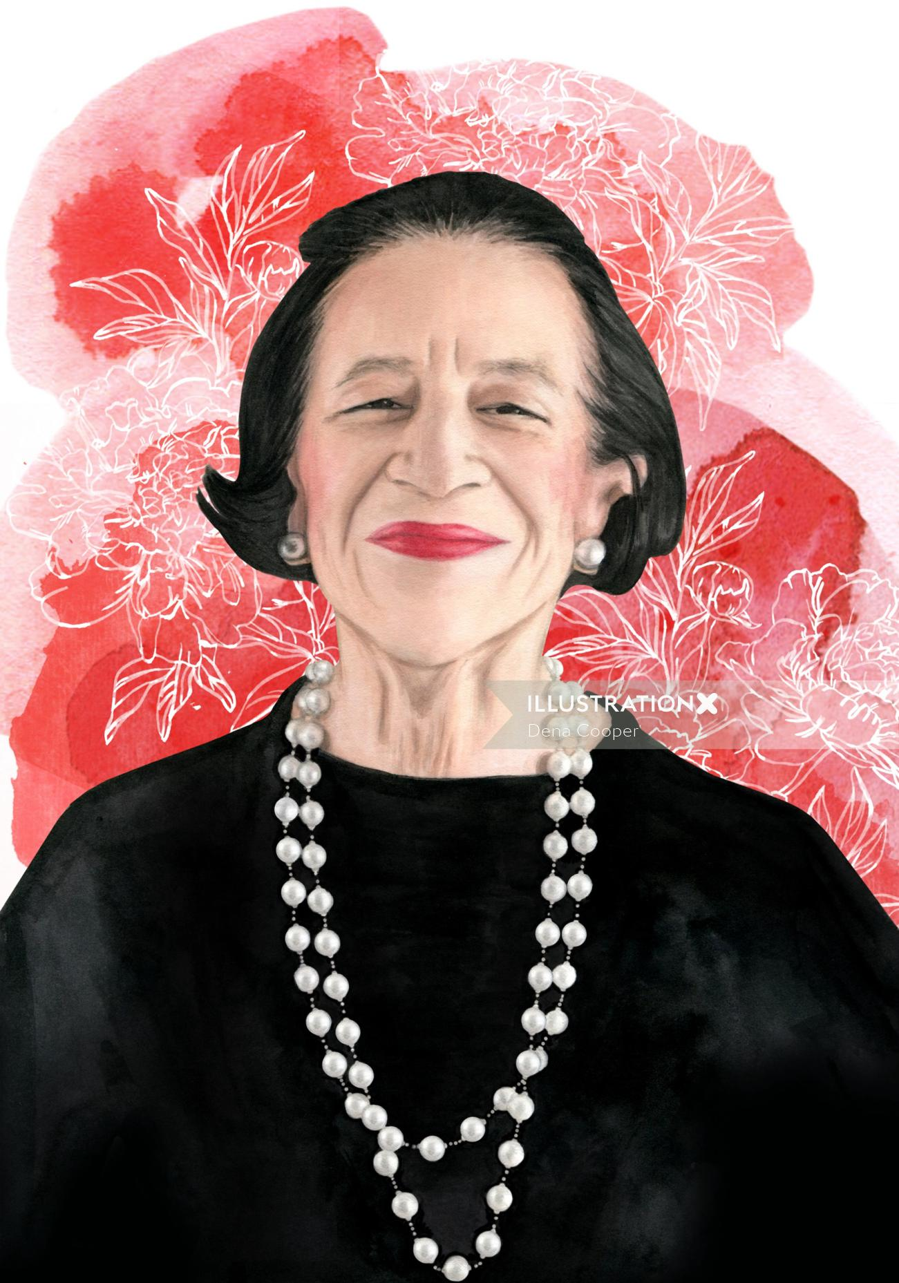 portrait of Diana Vreeland
