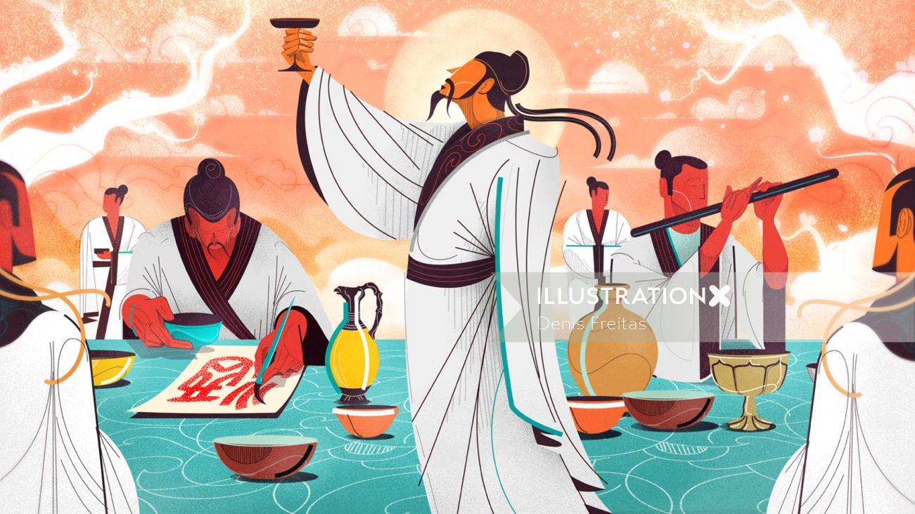 lifting baiiju drink in harmony