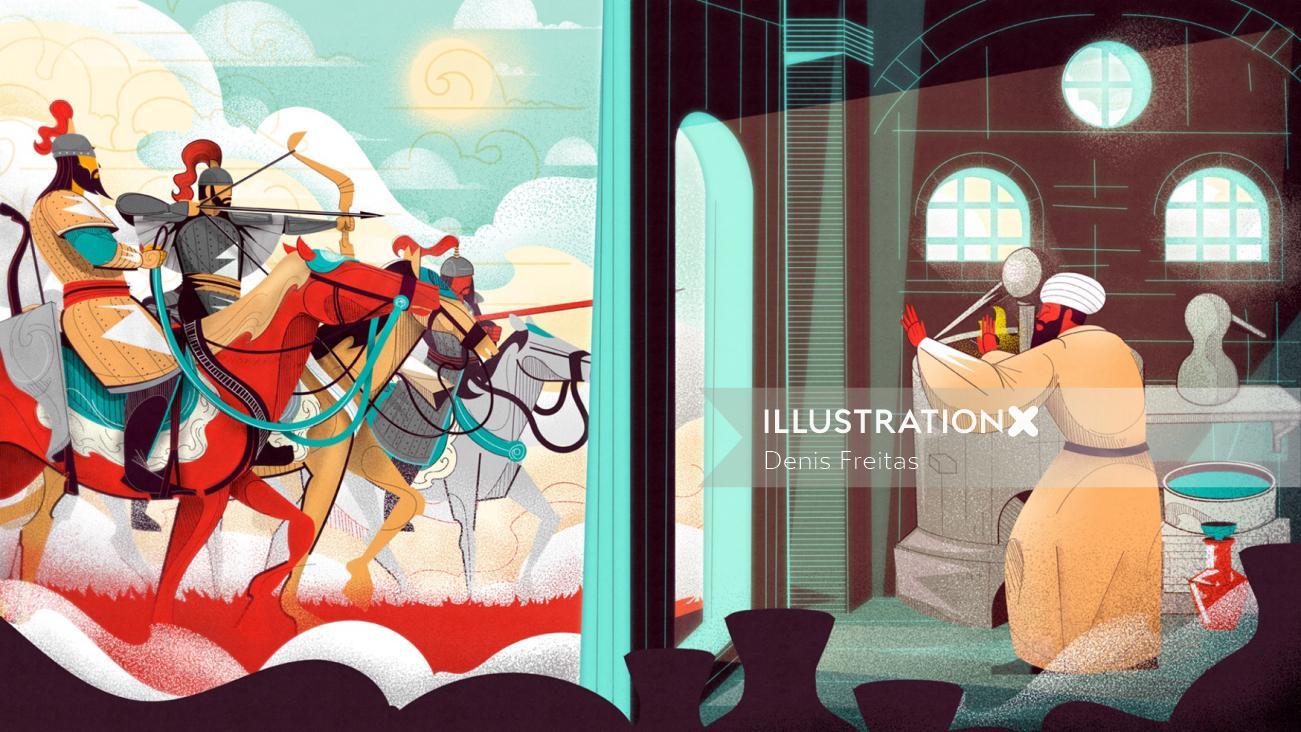 The story of Baijiu Mingriver graphic design