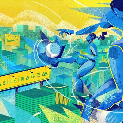 graphic art for nike brasileiragem