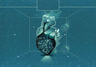 viewing heart in hologram in future